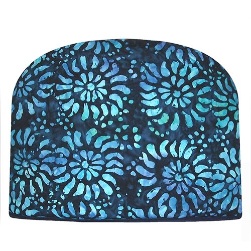 Blue Moon Teapot Tea Cozy Batik Blue Tea Cozy Double Insulated Tea Cozy
