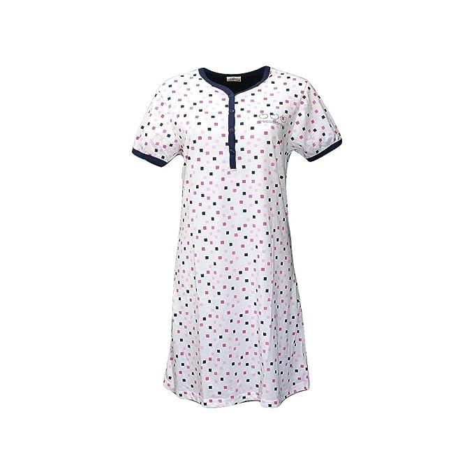 94822d9e64 Buccia di Mela Camicia da Notte Abitino Casa Donna 3/M-4/L-5/XL Cotone  10181S: Amazon.it: Abbigliamento