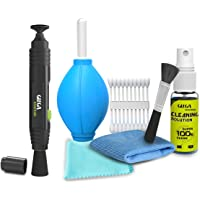 Gizga Essentials Professional Lens Pen Cleaning Pro System with 6-in-1 Cleaning Kit Combo for Cameras and Sensitive Electronics