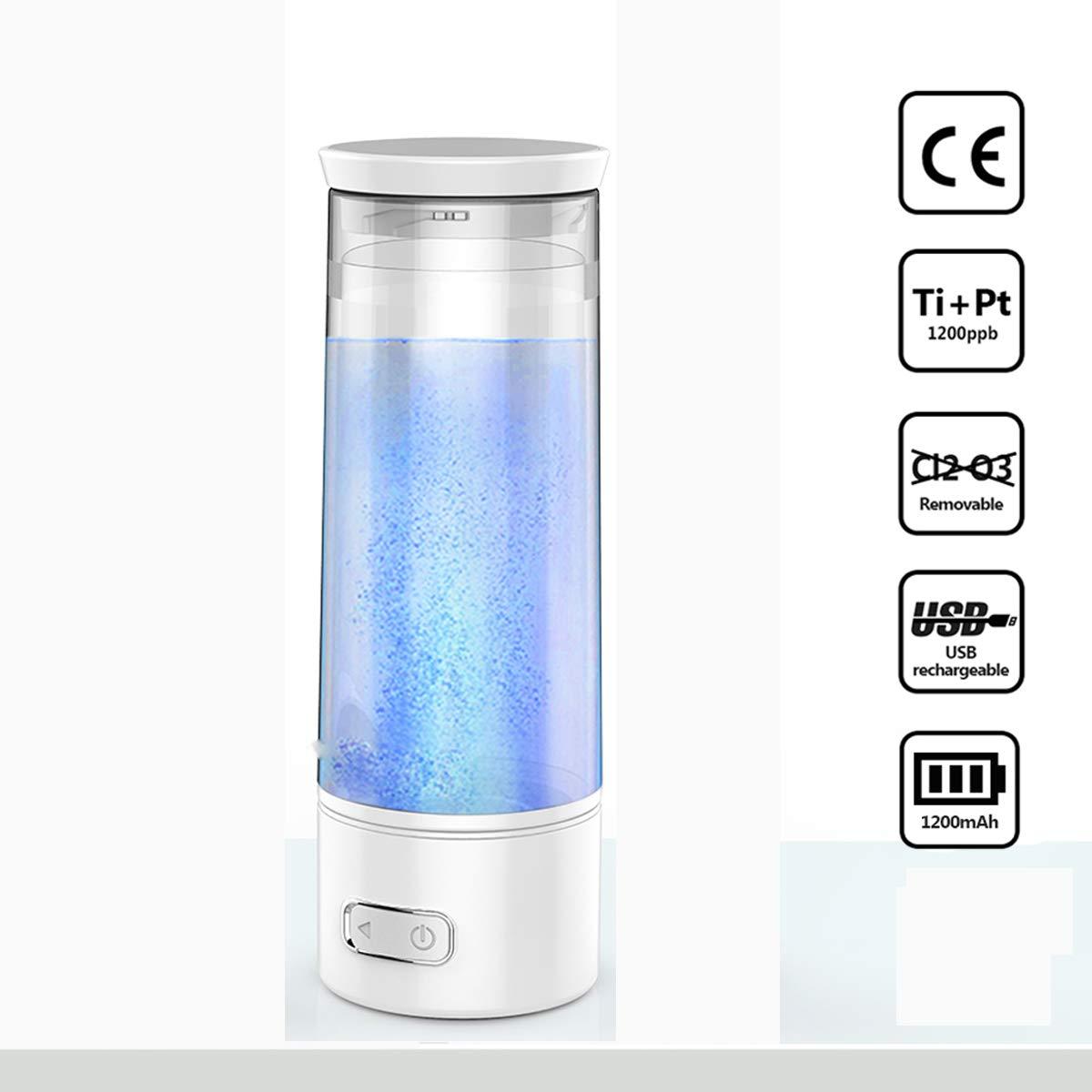 UTNF USB Aufladbare Anti-Aging Portable Wasserstoff Rich Wasserflasche Ionisator Healthy Electrolyte Negativ-Ionen-Generator