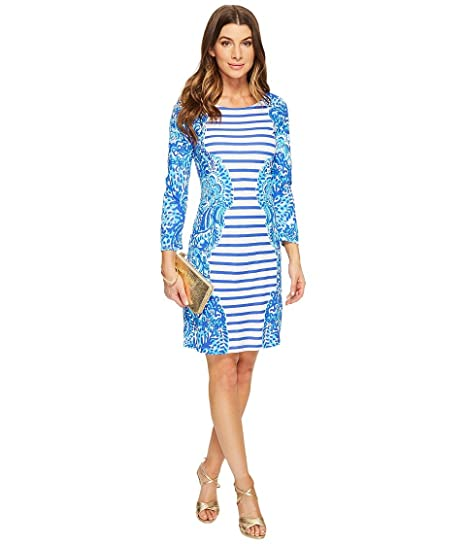 148cc3706ca7d9 Lilly Pulitzer Women's 24354 : Nila Dress, Brilliant Moon Jellies Stripe  Engineered Dress, ...