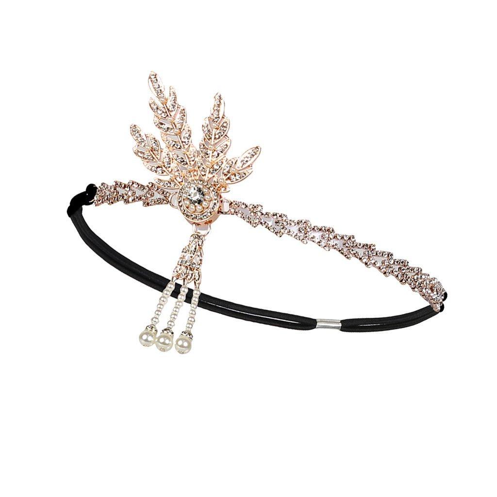 Fenteer Bandeau de Mari/ée en Cristal Serre-t/ête Accessoire Cheveux Cadeau Femme