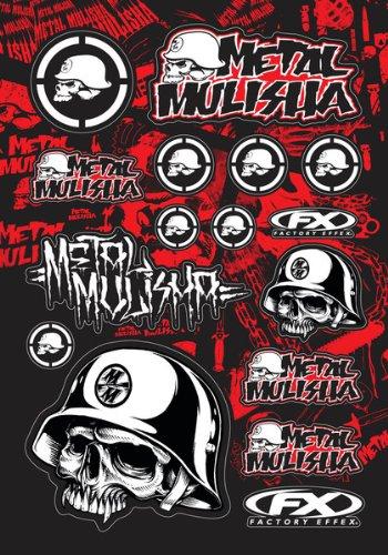 Factory Effex 14-68050 Metal Mulisha Sticker Kit 1