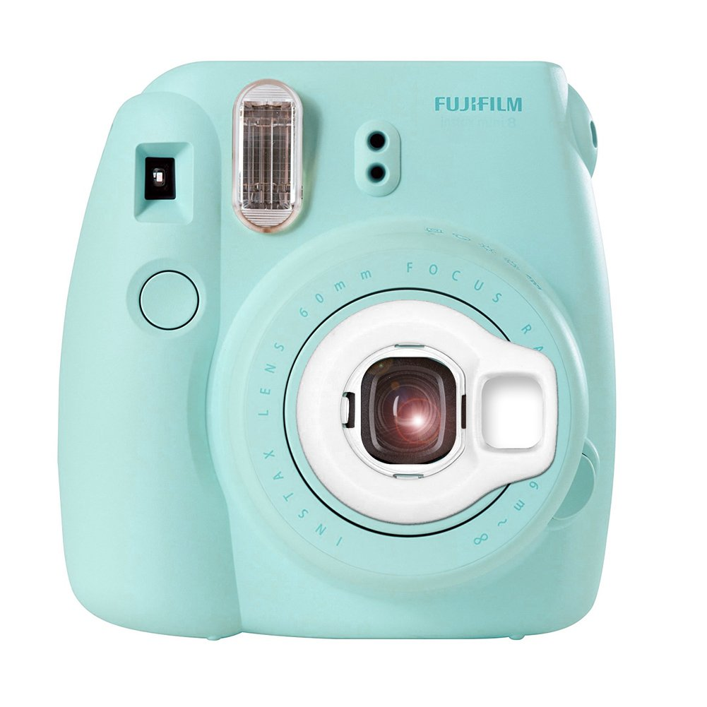 Katia Selfie Lens for Fujifilm Instax Mini 9/8 Instant Film Camera - White polarid camera