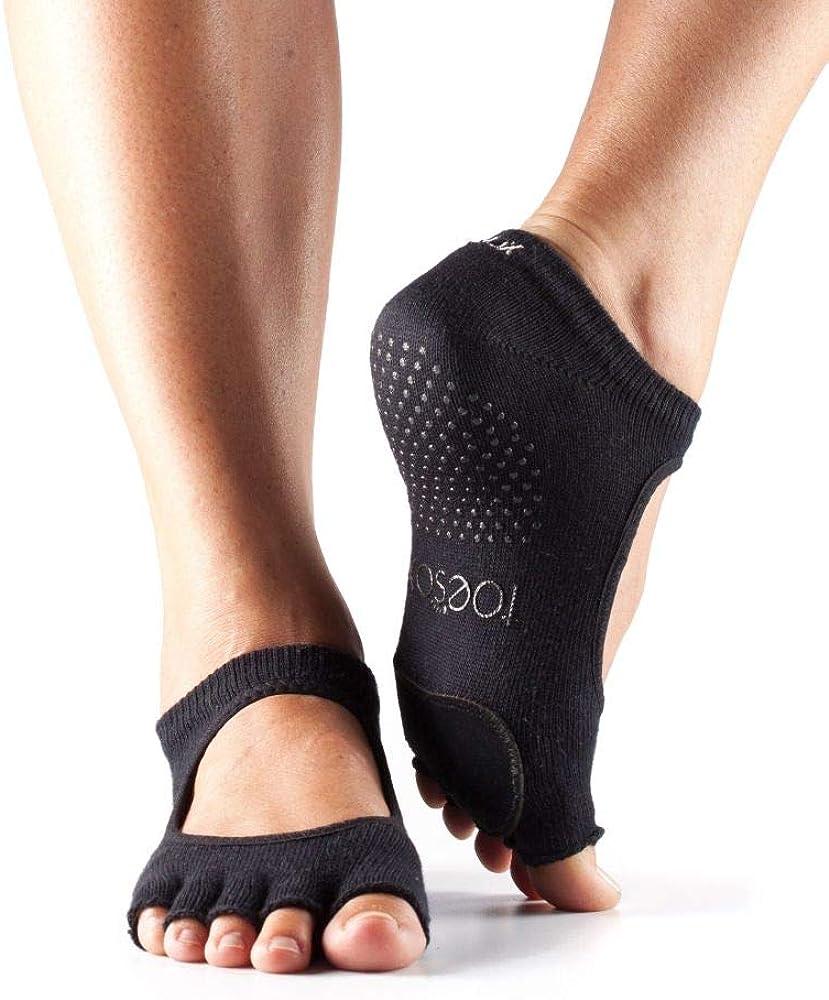 Toesox Half Toe Plie Calcetines de Yoga Unisex Adulto