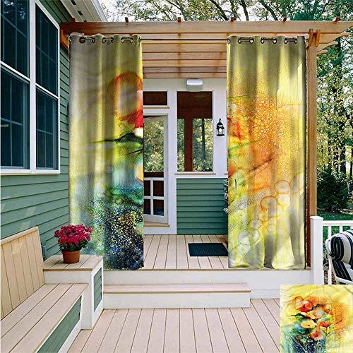 Beihai1Sun Outdoor Blackout Curtain,Flower Gerbera in Vase Retro Design,for - Vase Miller