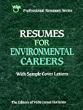 Resumes for Environmental Careers, VGM Career Books Staff, 0844241598