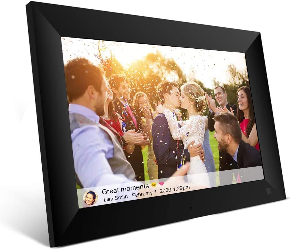 EMISH 10 Inch 16GB WiFi Digital Picture Frame with 800×1280 HD IPS Touch Screen Display, Share Photos and Videos from Your Phone to The Smart Photo Frame with The Frameo APP from Anywhere
