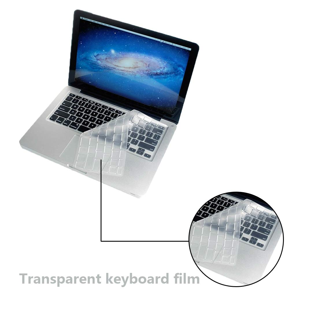 Tonewan US/UE/UK Silicone Clavier Cover Portable Skin Notebook Protector Apple Macbook Air 13/Retina 13 15/Pro 13 15