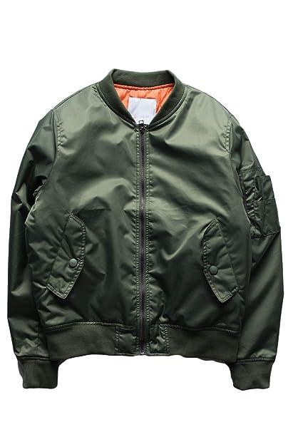 Piloto De La Fuerza Aérea De Manga Larga Hombres Béisbol Chaquetas Abrigos Coat: Amazon.es: Ropa y accesorios