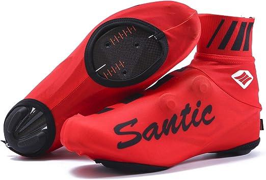 Santic Cubrezapatillas Ciclismo MTB Cubrezapatillas Bicicleta Cubrezapatos Ciclismo Carretera/Montaña Protector Zapatillas Ciclismo Rojo EU 42: Amazon.es: Deportes y aire libre