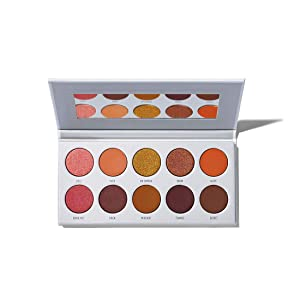Morphe x Jaclyn Hill Eyeshadow Palette - Ring The Alarm - 10 Dangerously Hot & Fiery Eyeshadows - A Palette of Matte and Shimmering Eyeshadows