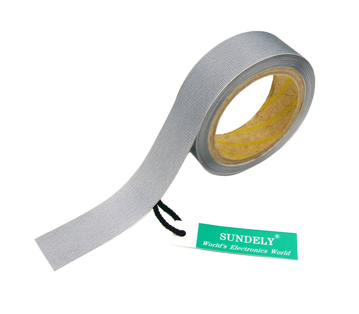 SUNDELY Light Gray Color Hot Melt Seam Sealing Tape Roll 0.8'' X 16' (20mm Wide X 5m) with 3 Layer for Waterproof Fabrics Sportswear