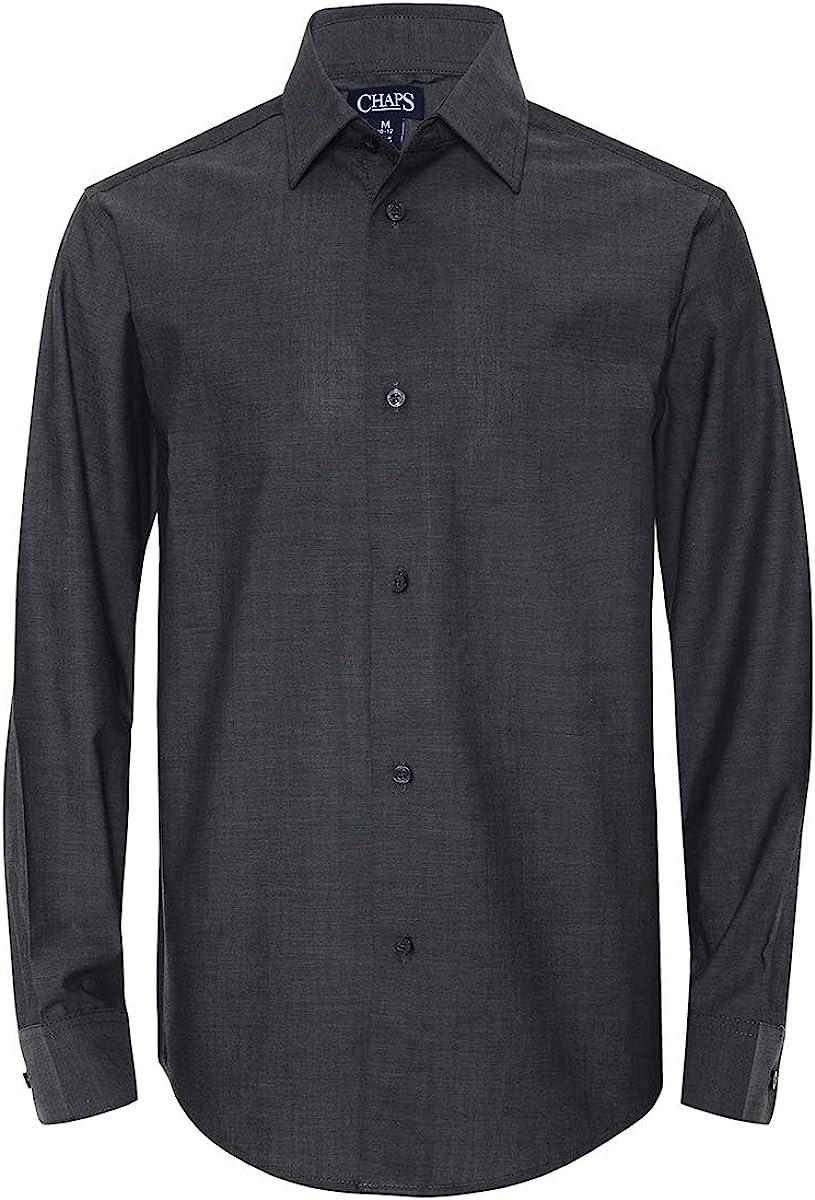 Iridescent Grey X-Large Chaps Boys Big Long Sleeve Dress Shirt 18//20