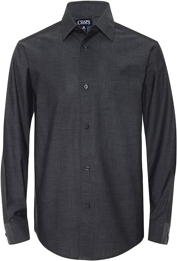 Chaps Boys Big Long Sleeve Dress Shirt X-Large Iridescent Grey 18//20