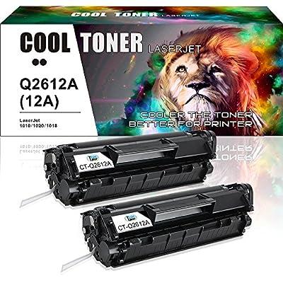 Cool Toner 2 Packs Q2612A 12A Toner Compatible for HP 12A Q2612A Toner Cartridge Q1261A HP LaserJet 1020 1018 1012 1022 3022 3055 Toner Cartridge
