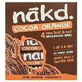 Nakd Cocoa Orange Fruit and Nut Bar, 4 x 35g Bars
