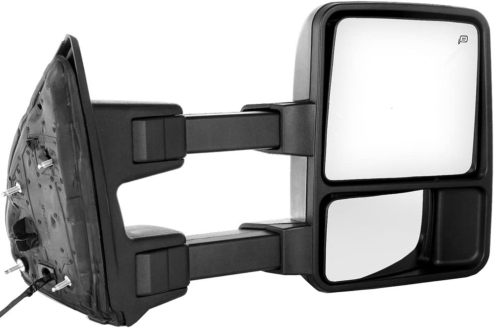 SCITOO Ford Towing Mirror Driver Side Rear View Mirrors for 1999-2002 Ford F-250 F-350 F-450 F-550 Super Duty with Power Control Heated Manual Telescoping Manual Folding and Turn Signal Light Feature