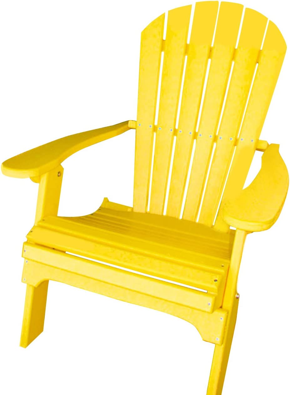 Phat Tommy Recycled Poly Resin Folding Adirondack Chair Durable and Eco-Friendly Patio Furniture Armchair