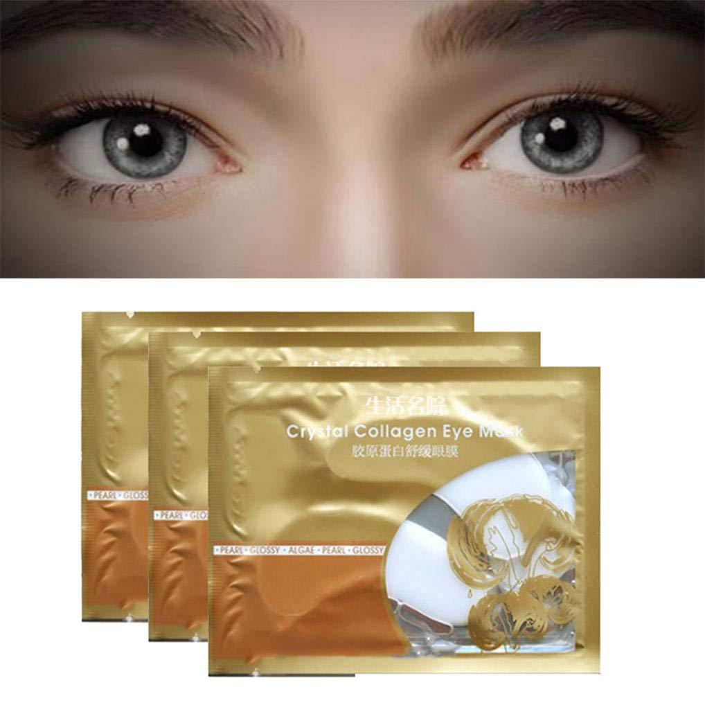 USHOT 3pcs White Eye Collagen Aging Wrinkle Under Crystal Gel Patch Anti Mask