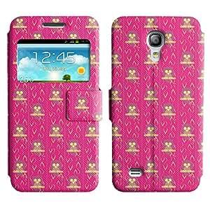 LEOCASE Búhos Rosados Funda Carcasa Cuero Tapa Case Para Samsung Galaxy S4 Mini I9190 No.1000972
