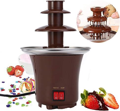 Brown 3 Étages Fontaine de chocolat Parti à fondue en acier inoxydable fondu chocolat
