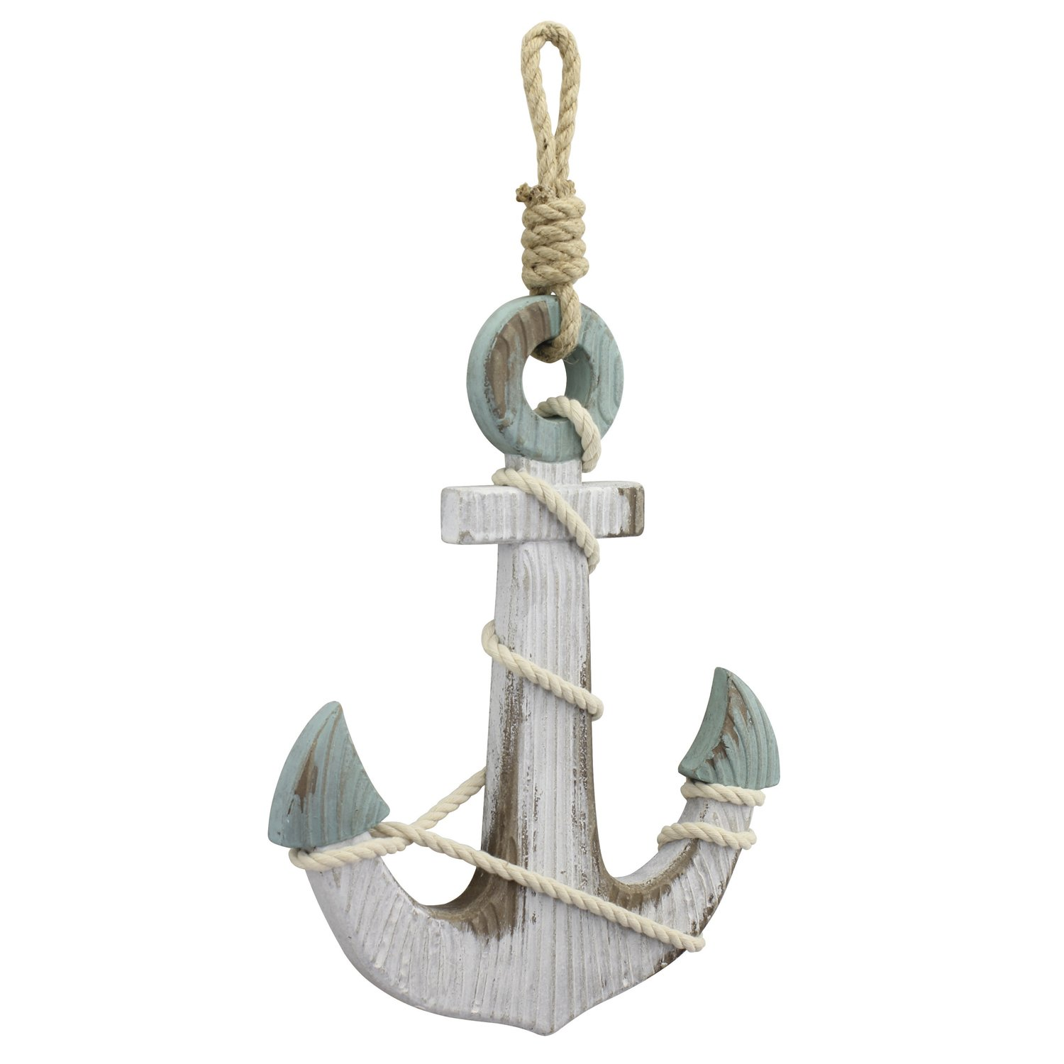Stonebriar Anchor Wall Decor, Worn White