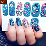 choose Nail Stickers Nail Art (12 pk) (Flower and butterfly),A variety of beautiful patterns to choose from