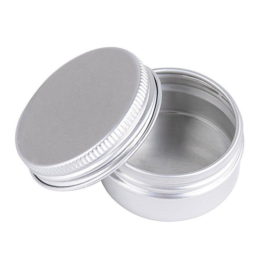 Schraubdose 15ml, Alu-Tiegel aus Aluminium, m. Schraub-Deckel, leer, Kosmetex Aludose, Kosmetik-Dose, Cremedose, 6 Stück 6 Stück