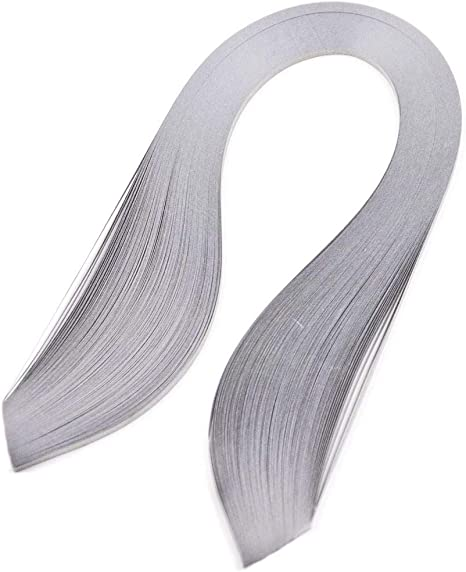 ODETOJOY Quilling Strips 5mm Paper Quilling Set 120pcs Strips 52CM Solid Color Origami Paper DIY Hand Crafts Quilling Paper Strips White