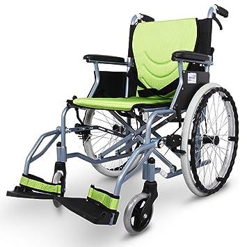 Amazon.com: EMOGA Silla de ruedas plegable, ligera, portátil ...