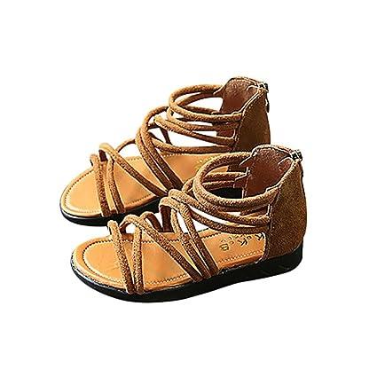 sports shoes f8c31 fb5cb Amazon.com  Hemlock Girl Sandals, Infant Kids Girls Flat Shoes Slip On  Sandals Bohemia Beach Sandals (3 years old, Brown)  Car Electronics