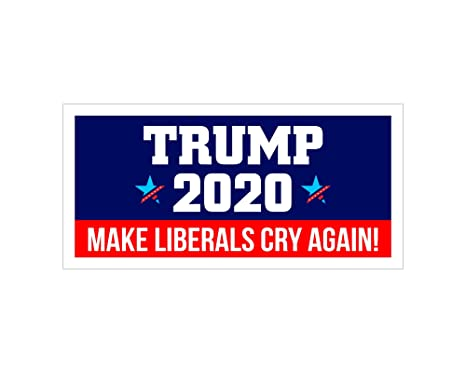 3 Pack Moligoo Car and Truck Bumper Stickers 2020 Presidential Election 9x3 Inch Trump 2020 Make Liberals Cry Again