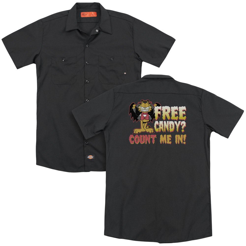 Garfield Count Me In Adult Work Shirt