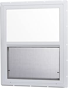 "Park Ridge Products VSHI2436PR Park Ridge Vinyl Single Hung Window, Insulated Glass, 24"" x 36"", White"