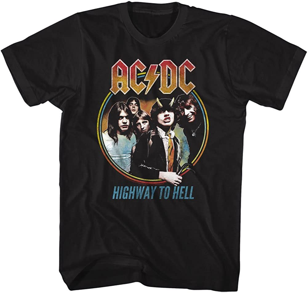 AC/DC Hard Rock Band Music Group Highway to Hell Adult T-Shirt Tee