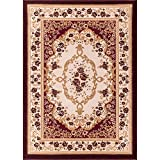 Well Woven 18308 Bingo Dulcet Traditional Area Rug, 9'3'' x 12'6'', Red