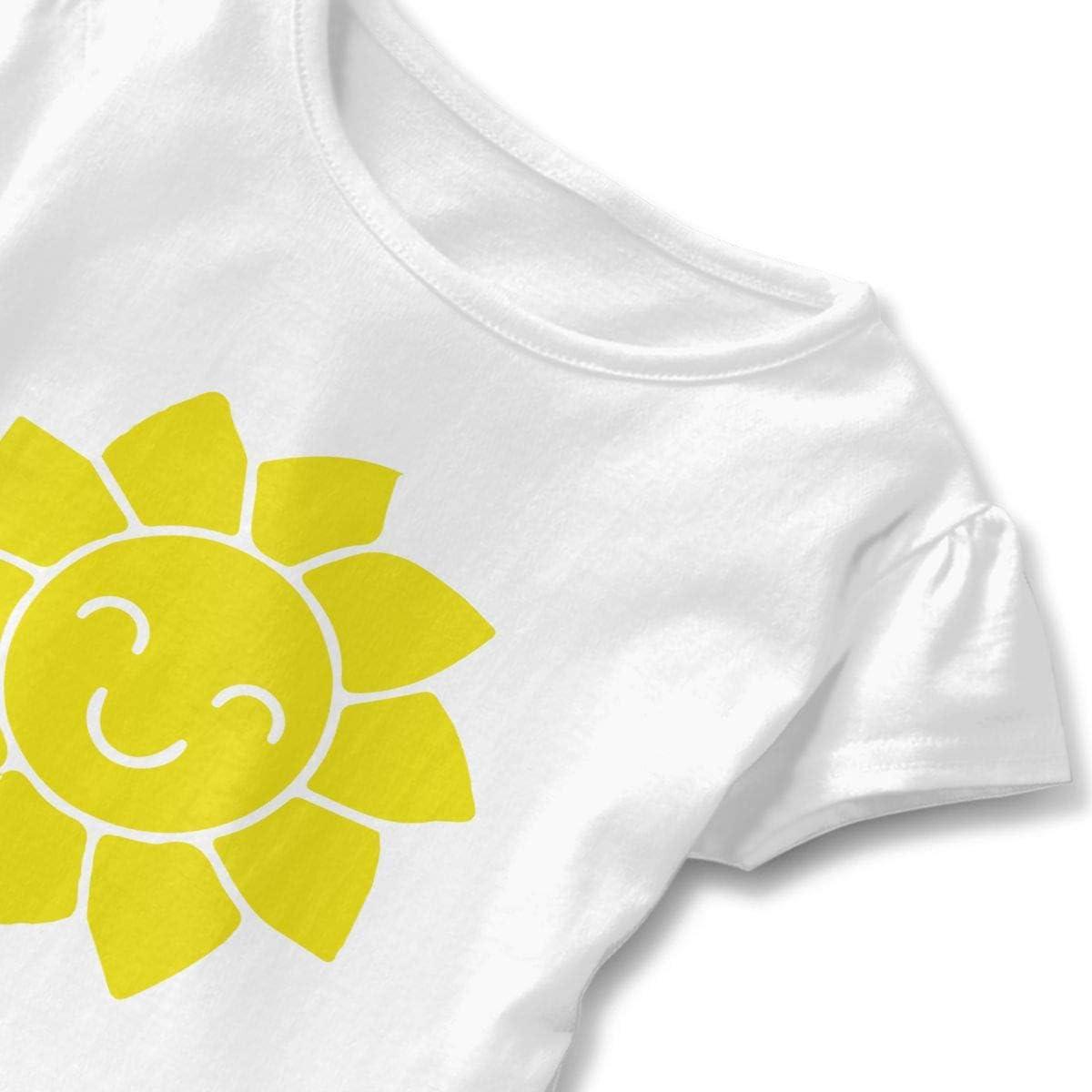 Sunny Baby Girls Round Collar T-Shirt Help Shirt