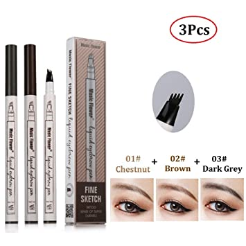 a3efc7be994 Amazon.com : Microblading Pen Tat Brow Pen Tatbrow Microblade Pen with 4  Tips for Eyes Makeup to Create 3D Eyebrows(3Pcs) : Beauty