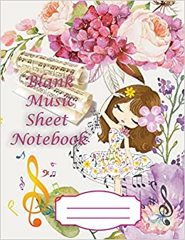 Blank music sheet notebook easy use for writing and staff paper turn on 1 click ordering for this browser mightylinksfo