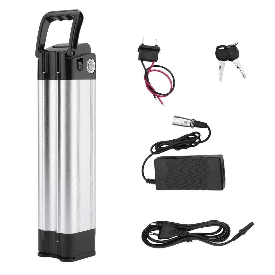 Funnyrunstore Hochleistungs-Elektro-Fahrrad-Batterie 24V 10.4Ah E-Bike-Lithium-Ionen-Batterie mit Ladegerät Elektrofahrrad-Umrüstsatz