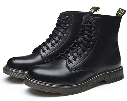 5c4ad412b7db Santimon Mens Ankle Boots Snow Lace up Chukka Combat Boot Leather Casual Fashion  Waterproof Outdoor Winter