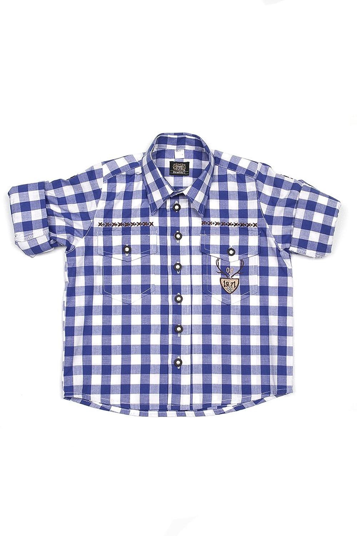 Ludwig & Therese Trachtenhemd Kinder Caspar blau K030005