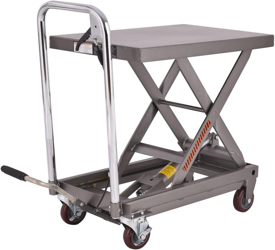 Goplus Cart Dolly Hydraulic Scissor Lawn Mower Foot Pump Jack Hoist 500LB Lift Table