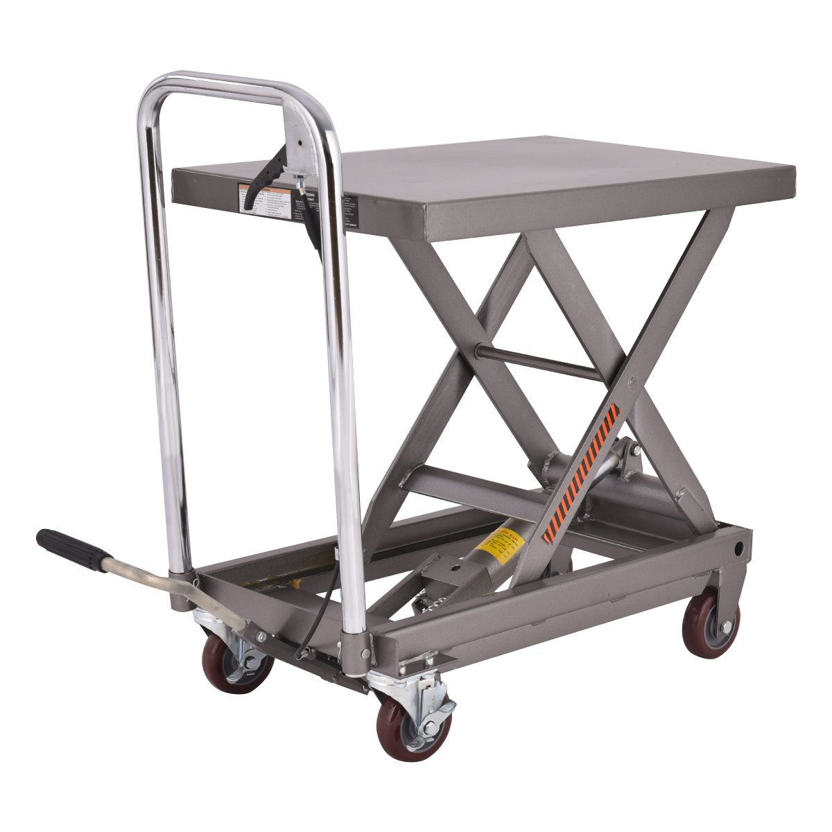 Goplus Hydraulic Scissor Lift Table Cart Dolly Scissor Jack Hoist Stand 500LB Capacity W/ Foot Pump