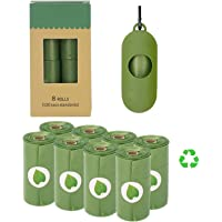 Dog Poop Bags Compostable, Proxima Direct Doggie Waste Bags Green Carrier Bag with Dispenser, Biodegradable Dog Waste…