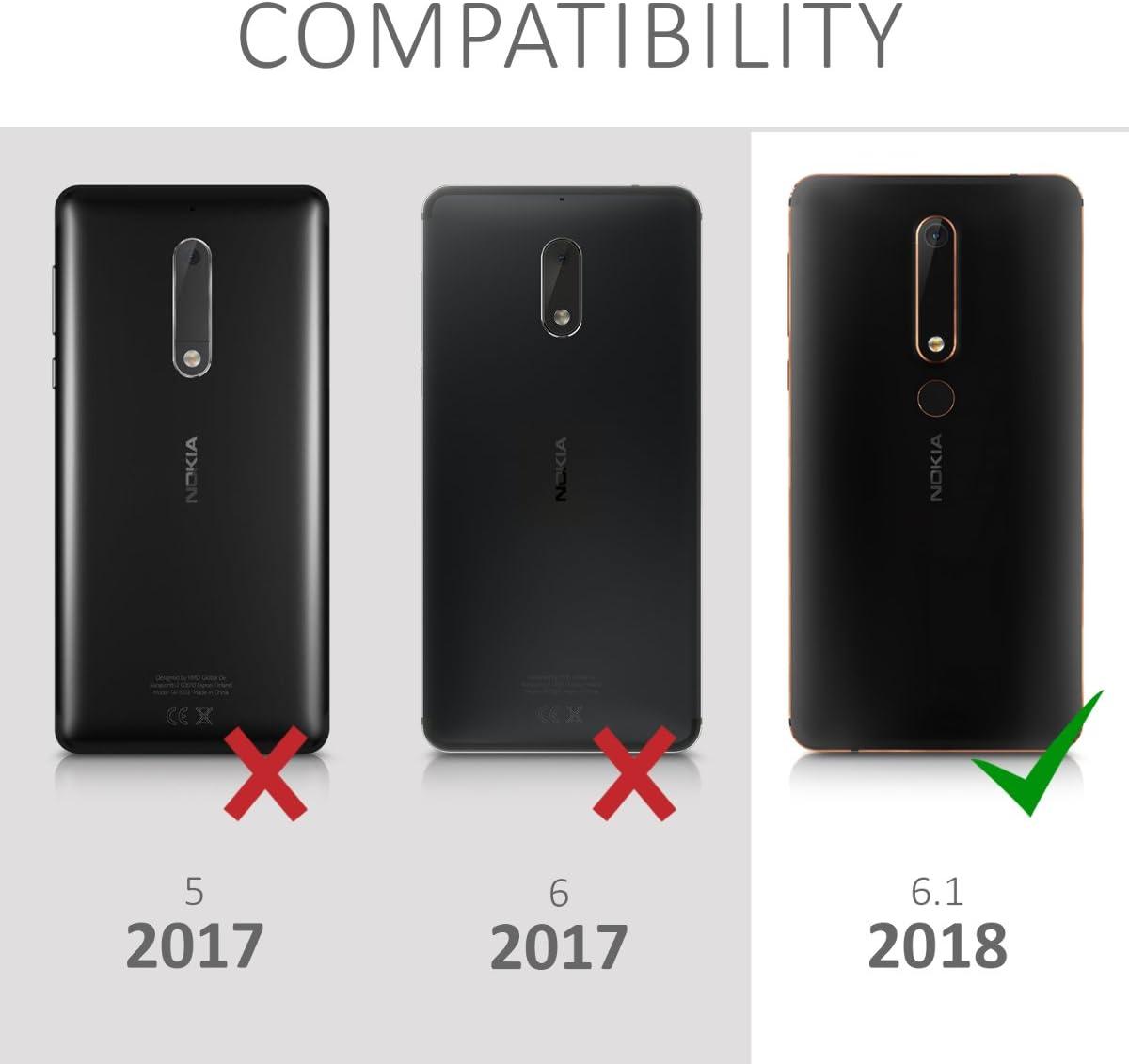 kalibri Protector de Pantalla Compatible con Nokia 6.1 (2018 ...