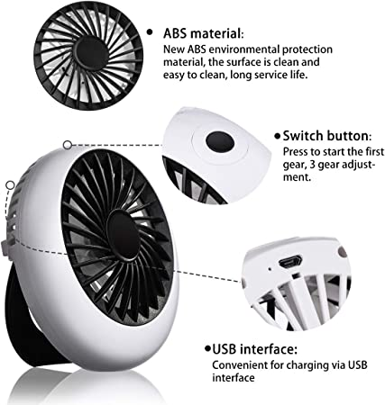 Color : 01 Convenient 2pcs Handheld Electric Fan Base Portable Personal USB Desk Electric Fan Rechargeable Summer Electric Fan Phone Holder Durable