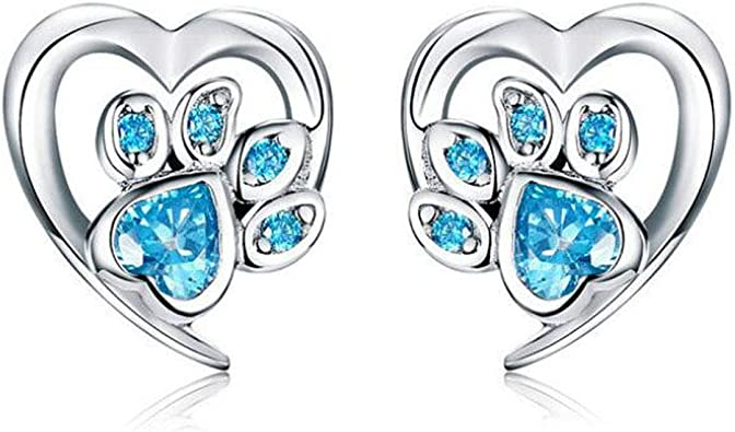 Brilliant Charms Pink Cubic Zirconia Crystal Fashion Women Silver Stud Earrings
