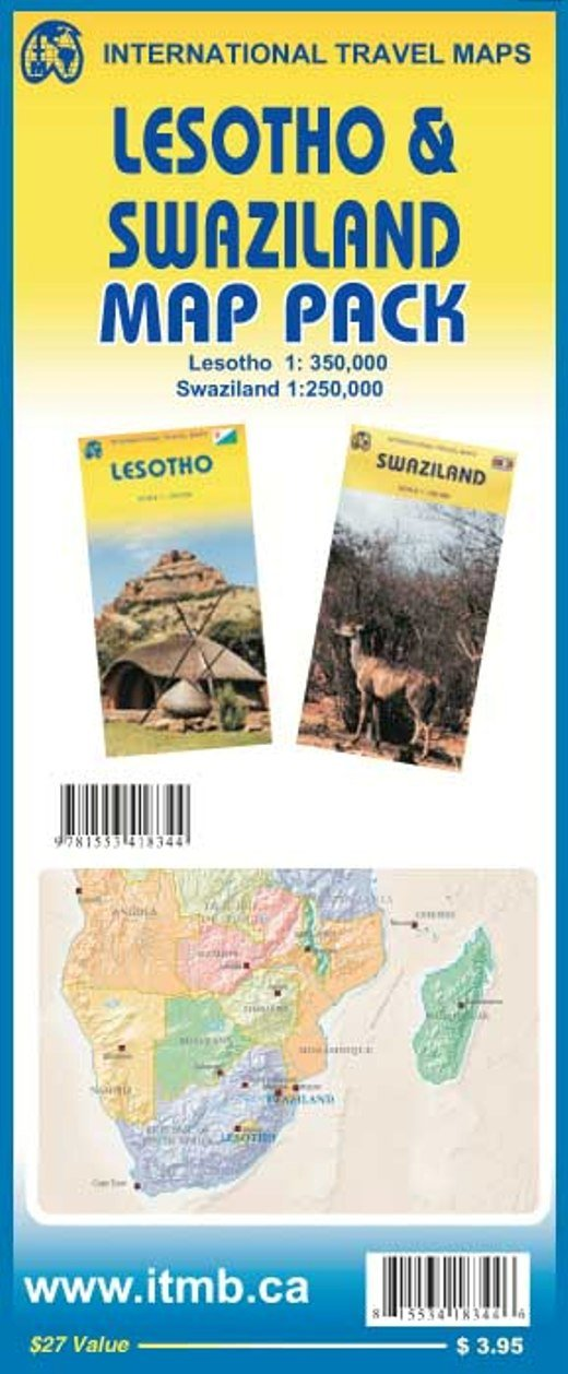 map pack lesotho swaziland